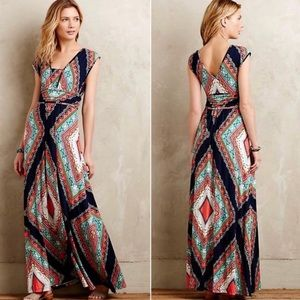 ANTHROPOLOGIE Maeve Verda Maxi Dress